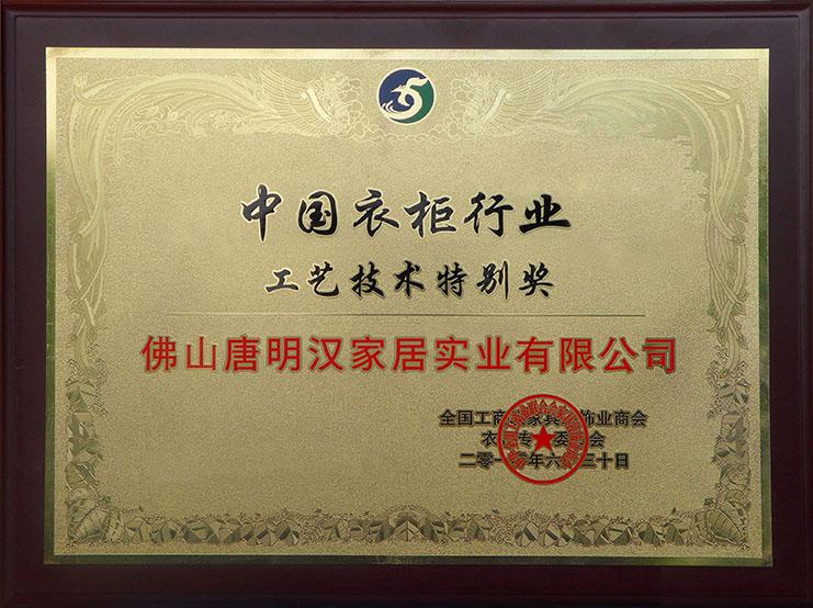 中国工艺技术特别奖